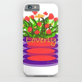 LOVERLY FLORAL iPhone Case