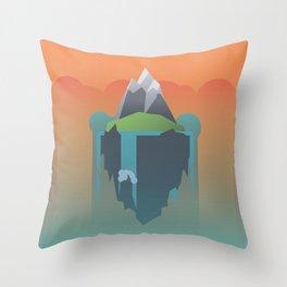 Floating Island (Mountain) Throw Pillow