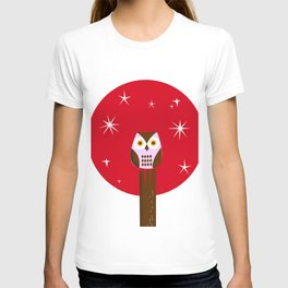 Owl ( alternative red version) T-shirt