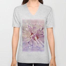 Delicate Floral Unisex V-Neck