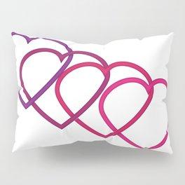 Interlocking Purple Hearts Pillow Sham