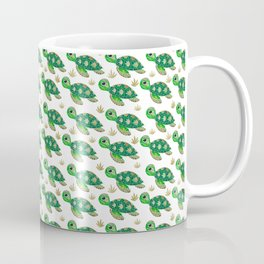 Cute Green Sean turtle Coffee Mug