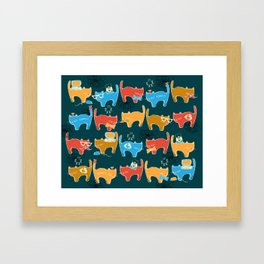 Geek Chic Cats {Nerds, Cameras, Computers, Bow Ties & Glasses} Framed Art Print