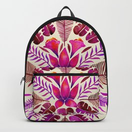 Tropical Symmetry – Magenta Backpack