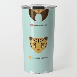 Endangered Big Cats Travel Mug