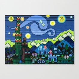 Super Starry Night Canvas Print