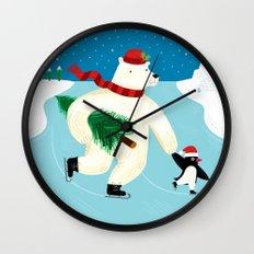 Polar Skating Wall Clock