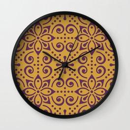Pattern Design Painting Wall Clock