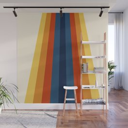Bright 70's Retro Stripes Wall Mural