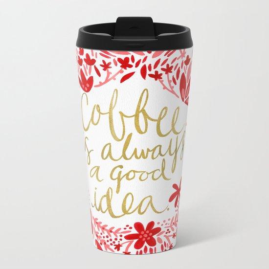 Coffee Metal Travel Mug