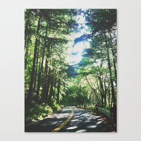 portland Canvas Prints featuring portland by bri ochoa