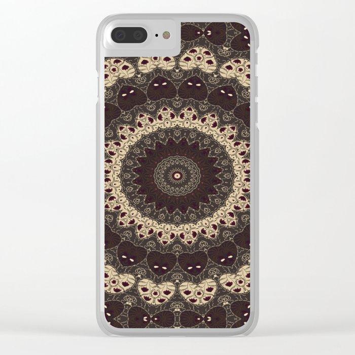 Mandala Arabica . Clear iPhone Case