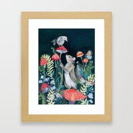 Mushroom garden Framed Art Print