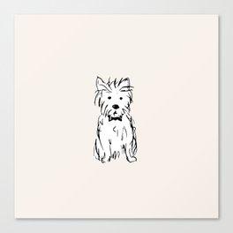 Milo the dog Canvas Print