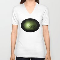 clockwork V-neck T-shirts featuring clockwork anglerfish by vasodelirium