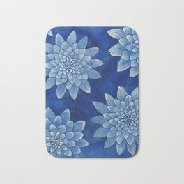 Sleeping girl (watercolor on textured background) Bath Mat