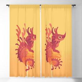Dragonpop alebrije cherry orange Blackout Curtain
