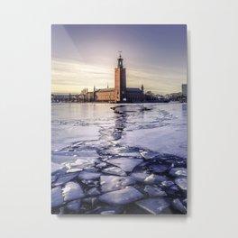 Stockholm City Hall in Winter Metal Print