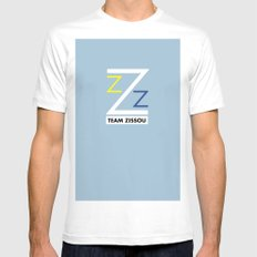 ZZZ White MEDIUM Mens Fitted Tee