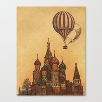 moscow Canvas Prints featuring Moving to Moscow by Terry Fan