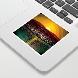 Angel Island Sunset (Square) Sticker