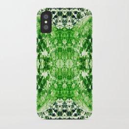 Green Splitting Spheres iPhone Case