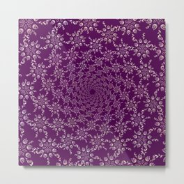 Floral Spiral Metal Print