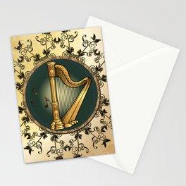 Golden harp Stationery Cards