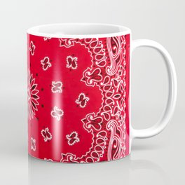 Paisley - Bandana Art - Red - Southwestern Coffee Mug