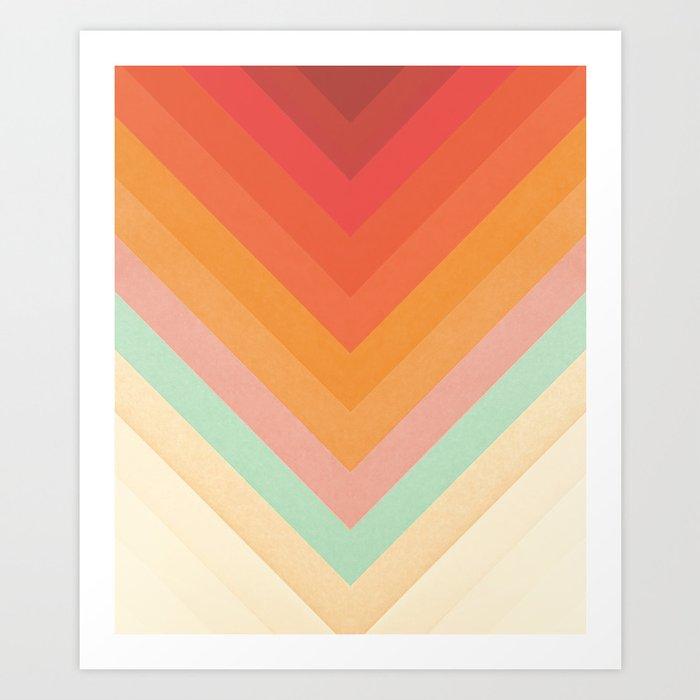 Rainbow Chevrons Kunstdrucke