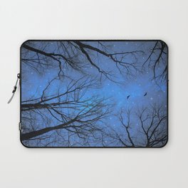 A Certain Darkness Is Needed (Night Trees Silhouette) Laptop Sleeve