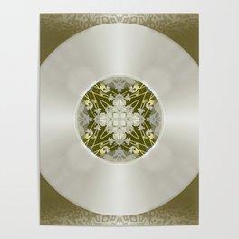 Vinyl Record Illusion in Sepia Poster