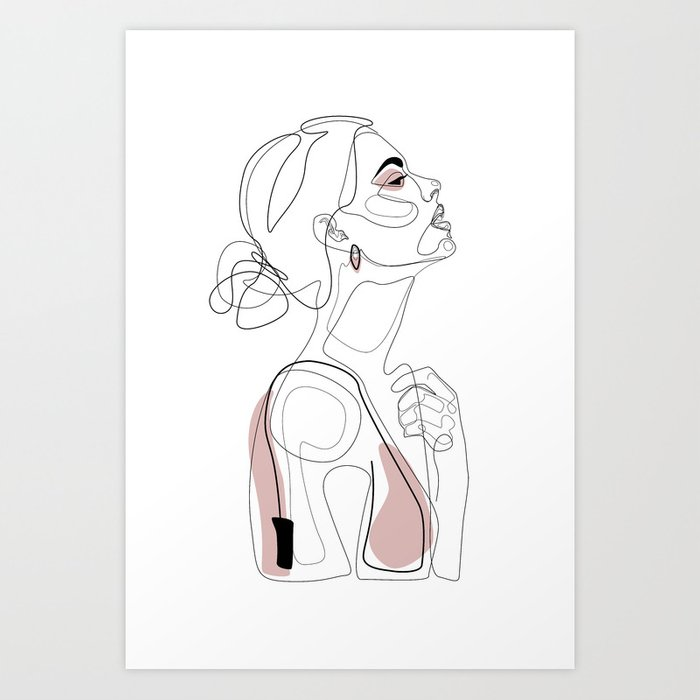 Blush Beauty Art Print