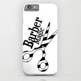 Barber Magic - black and white iPhone Case