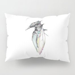 Kingfisher 1h. Full color plus black borders with white background-(Red eyes series) Pillow Sham