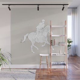 Eventing in brown Wall Mural