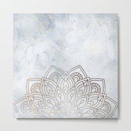 G.Marble-Wall Mandala Metal Print