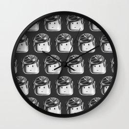 Minifigure Pattern - Dark Grey Wall Clock