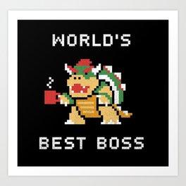 World's Best Boss Art Print