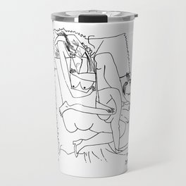 Pablo Picasso The Lovers 1951 Artwork Sketch, Tshirts, Posters, Prints, Men, Women, Youth Travel Mug