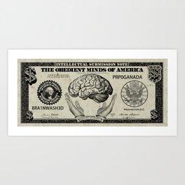 mental currency Art Print