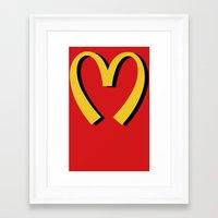 moschino Framed Art Prints featuring McDonald's MOSCHINO by RickyRicardo787