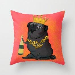 Pugz Life Throw Pillow