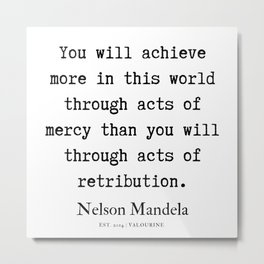 27  | Nelson Mandela  Quotes | 190818 Metal Print