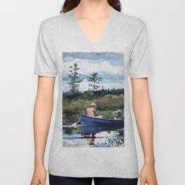 12,000pixel-500dpi - Winslow Homer1 - The Blue Boat - Digital Remastered Edition Unisex V-Neck