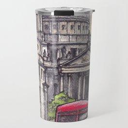 London ink & watercolor illustration Travel Mug