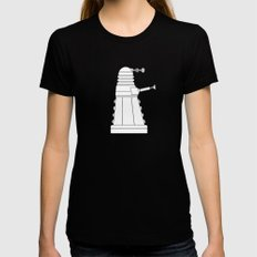 DOCTOR WHO - EXTERMINATE! Womens Fitted Tee Black X-LARGE