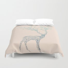 Blue Deer Duvet Cover