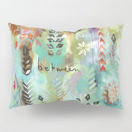 """""""Fly Free Between"""" Original Painting by Flora Bowley Pillow Sham"""