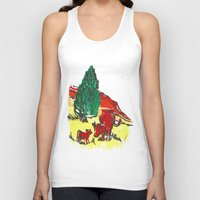 Big moo, wee moo (colored version) Unisex Tank Top